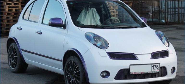 Небольшой стильный тюнинг Ниссан Микра (Nissan Micra)