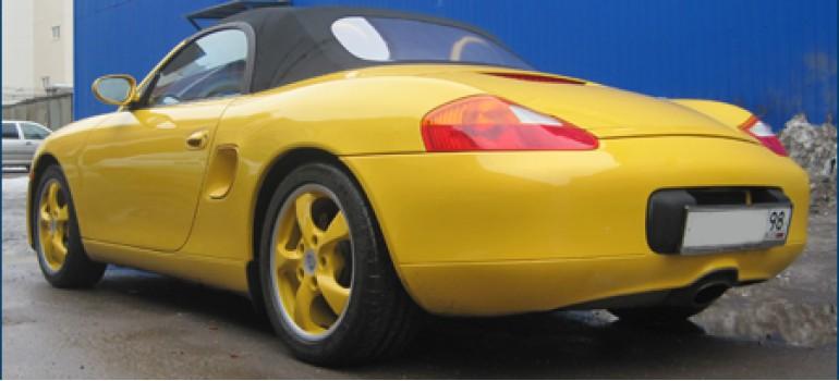 Перетяжка салона и покраска дисков на Порш Бокстер ( Porsche Boxter )