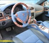 Перетяжка салона в алькантару (алькантру) в Порше Кайен ( Porsche Cayenne ) 955