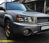Установка линз, ремонт и полировка фар на Субару Форестере (Subaru Forester)