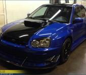Профессиональная установка и покраска тюнинг-обвеса Widebody на Субару ( Subaru ) WRX STi