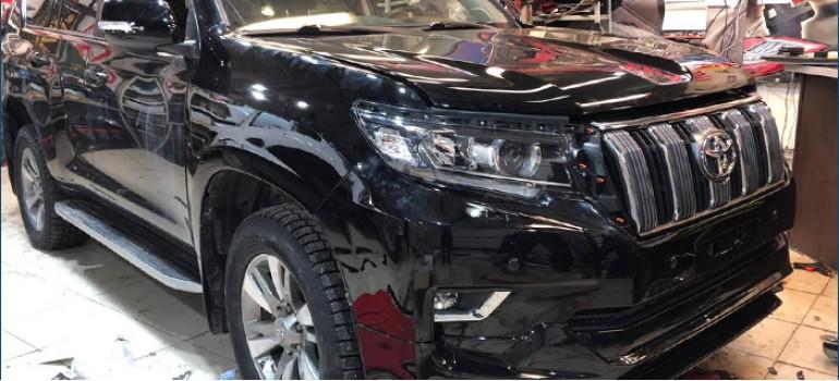 Установка рестайлинг комплекта на Toyota Land Cruiser Prado 150 (переделка авто из 2013 года в 2018 год выпуска)