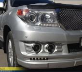 Установка и покраска аэродинамического обвеса Alterego на Тойоту ( Toyota ) Land Cruiser 200