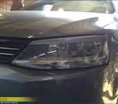 Установка и покраска ресниц на фары и спойлера на багажник на Фольксваген Джетту (Volkswagen Jetta)
