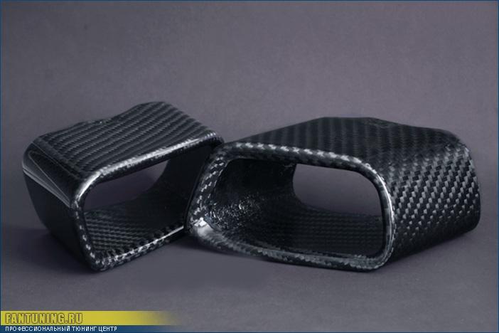 Карбоновые насадки на глушитель для БМВ (BMW) X5 F15