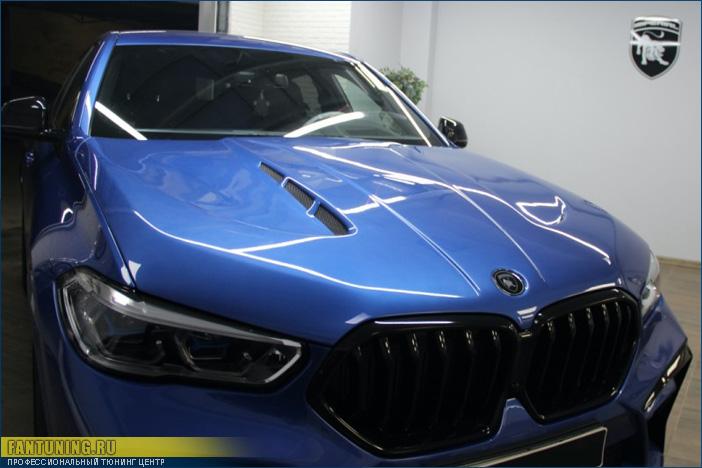 Тюнинговый капот под покраску на БМВ (BMW) X6 G06