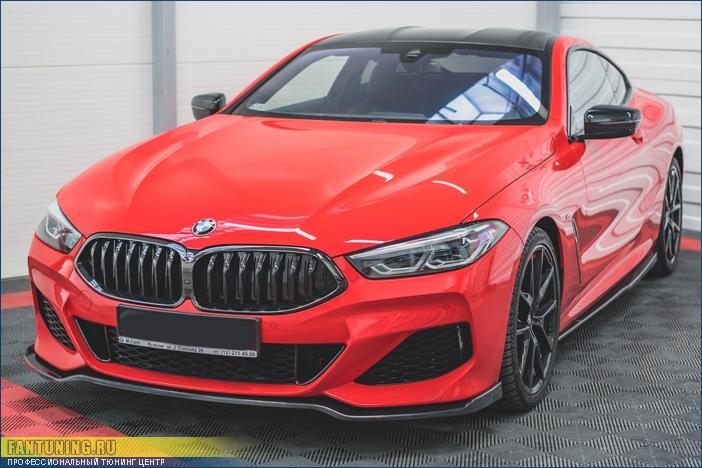 Сплитер переднего бампера на БМВ (BMW) 8-series G15