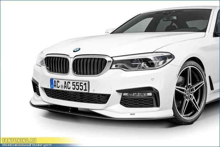 Спойлер АС Шнитцер (AC Schnitzer) на передний бампер БМВ (BMW) G30