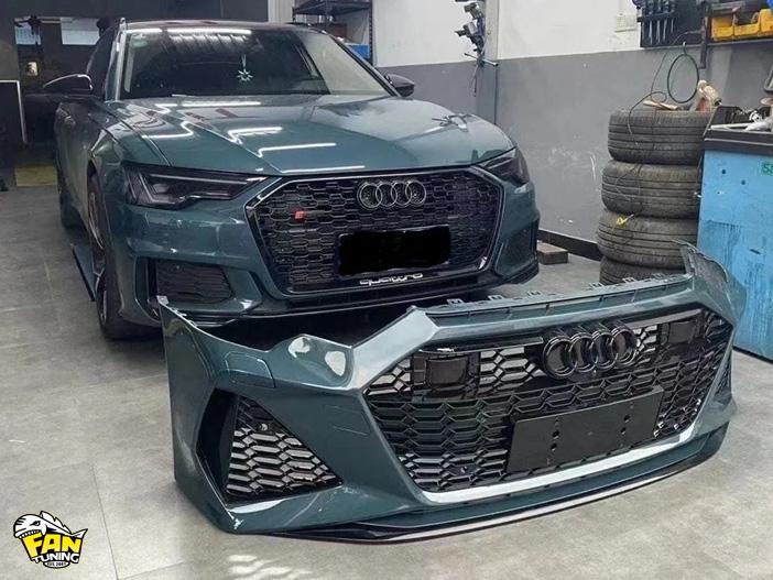 Передний бампер в стиле RS6 на Ауди (Audi) A6 C8