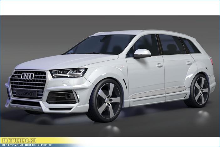 Аэродинамический обвес Je Design на Audi Q7 2015+