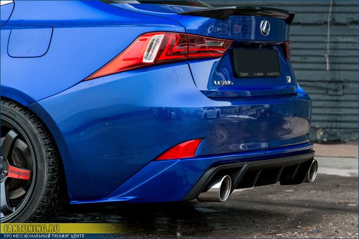 Диффузор заднего бампера  для Лексуса (Lexus) iS (2013 - н.в.)