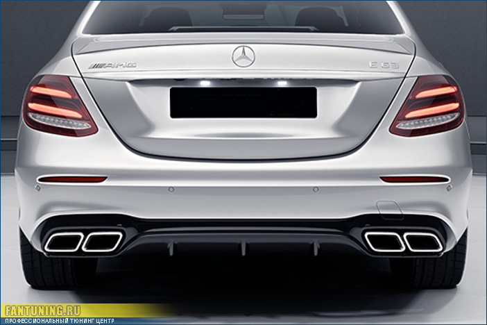 Диффузор заднего бампера в стиле AMG для Mercedes W213