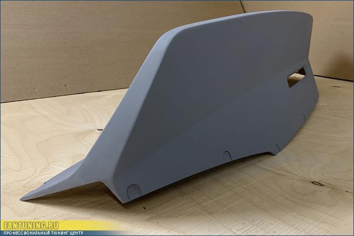 Спойлер в стиле Rocket Bunny на багажник Mitsubishi Lancer X / EVO X