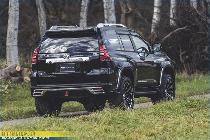 Аэродинамический обвес ВАЛЬД (WALD) на Toyota Land Cruiser Prado 150 рестайлинг 2017 года