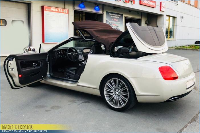 Перешив кабриолетного верха на Bentley GT Continental