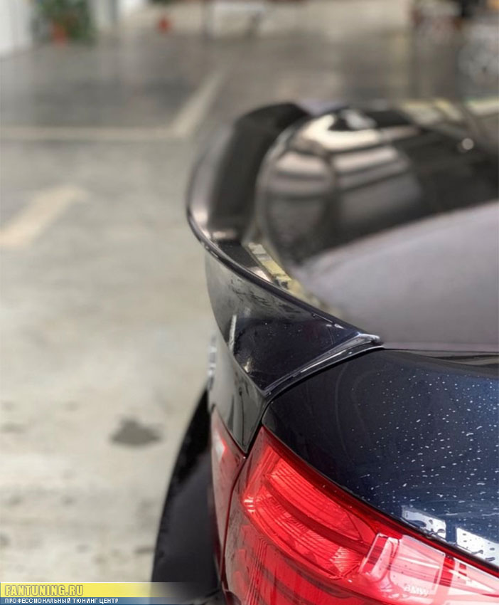 Установка спойлера AC Schnitzer на багажник БМВ (BMW) F10