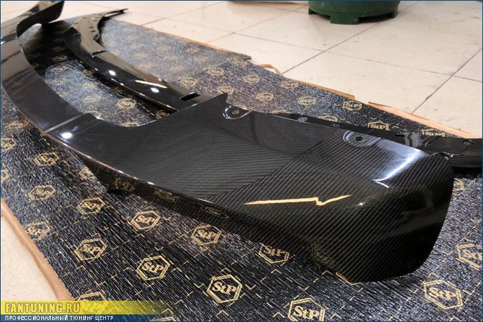 Ремонт карбоновой губы М Перформанс (M Performance) на передний бампер БМВ (BMW) X5 F15