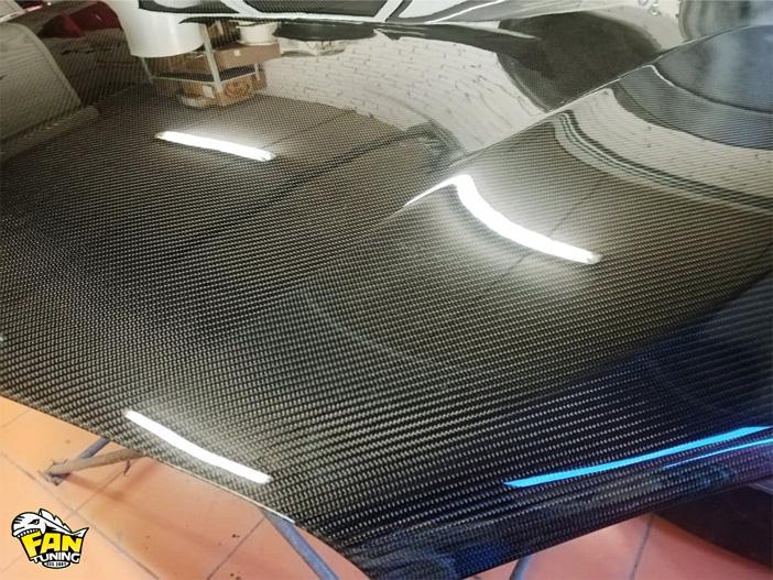 Ламинация (покрытие) настоящим карбоном деталей на БМВ (BMW) X6 F16
