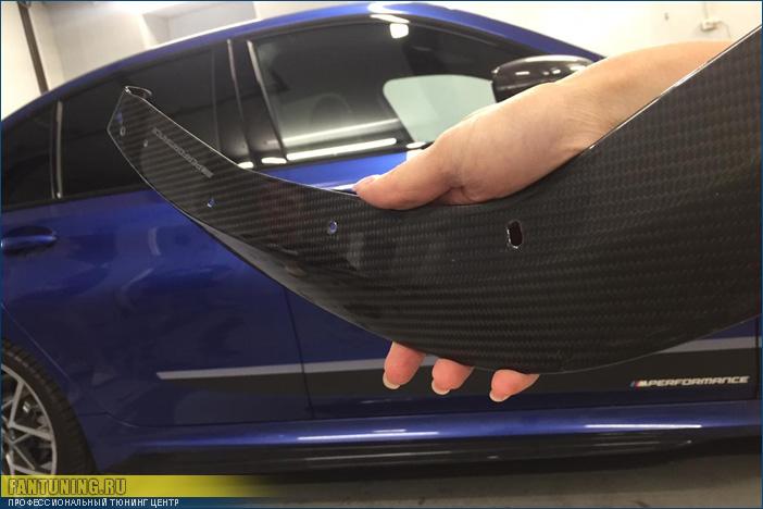 Ремонт карбонового сплитера (элерона) на БМВ (BMW) G20