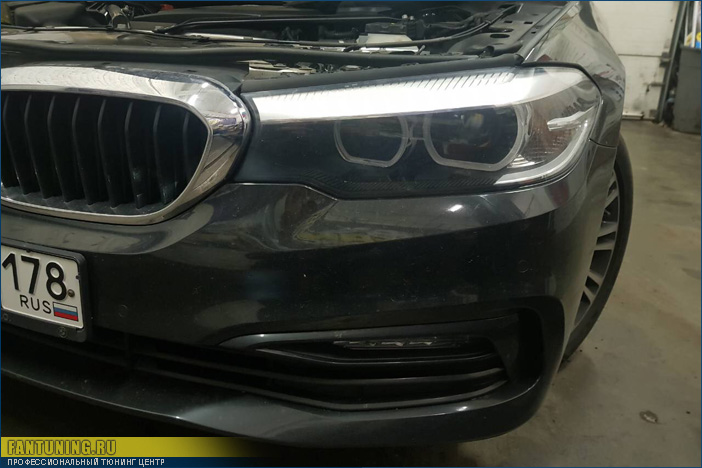 Ремонт фары на БМВ (BMW) пятой серии в кузове G30