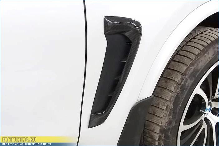 """Карбоновые вставки в """"жабры"""" в передние крылья БМВ (BMW) X5/X6 F15/F16"""