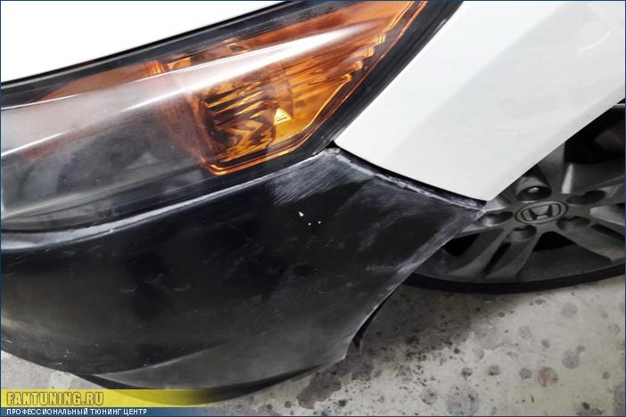 Установка тюнинг капота и бампера на Хонду Аккорд (Honda Accord)