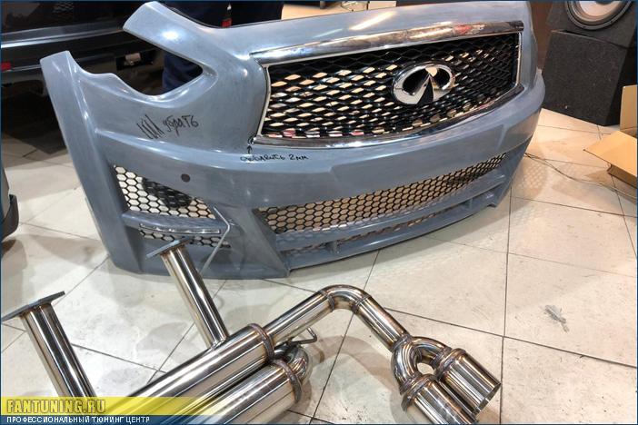 Профессиональная установка и окраска обвеса Lorinser на Инфинити (Infiniti) QX70