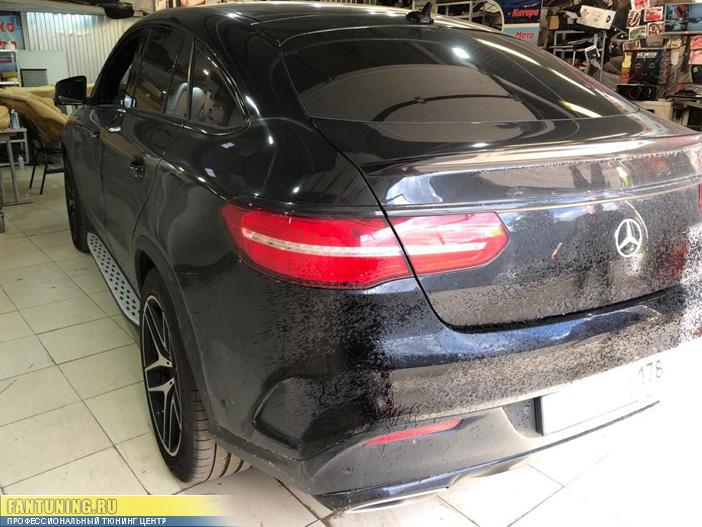 Установка электронного выхлопа на Мерседес (Mercedes) GLE Coupe C292