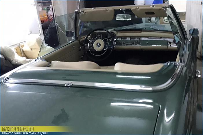 Пошив кабриолетного верха для редкого Мерседеса (Mercedes-Benz) W113