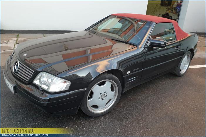 Замена мягких стекол в кабриолетном верхе Mercedes SL W129