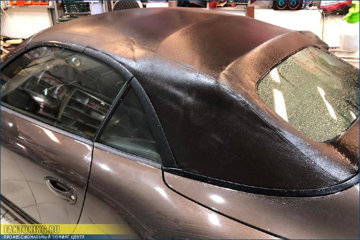 Профессиональная пропитка кабриолетного тента на Порше (Porsche) 911