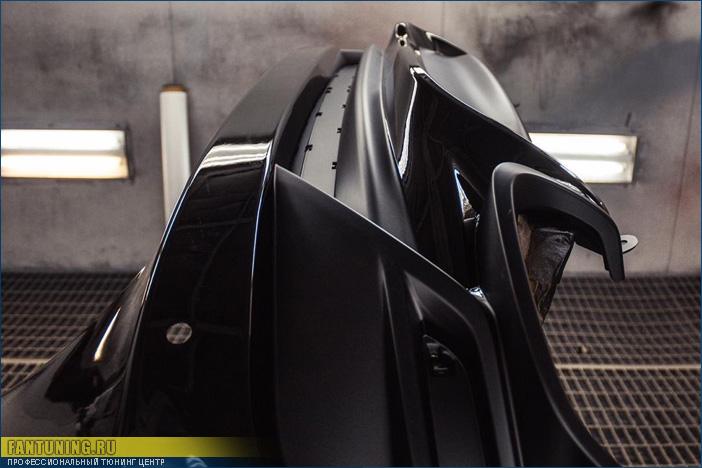 Установка и покраска обвеса Khann на Тойоту Камри (Toyota Camry) в крайнем кузове V70