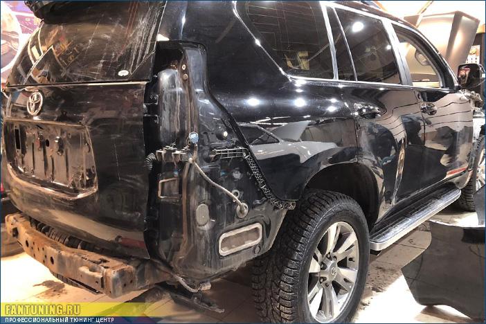 Установка рестайлинг комплекта на Toyota Land Cruiser Prado 150